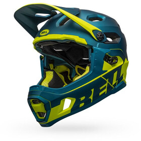Bell Super DH MIPS Cykelhjelm, matte/gloss blue/hi-viz